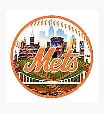 New York Mets Stadium Logo Photographic Print
