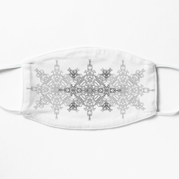 The Elegant Faded Snowflakes   Mask