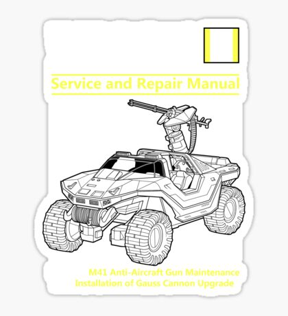 Warthog Service and Repair Manual Sticker