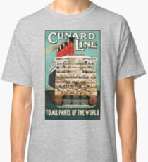 Vintage poster - Cunard Line Classic T-Shirt