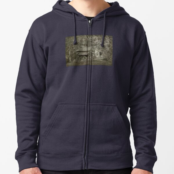 The Haunted Old Mill  Zipped Hoodie