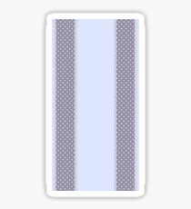 Cute Classy Blue Lace and Polka Dot Sticker