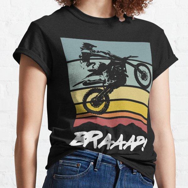 Vintage Dirt Bike Braap-Braaap Funny Motocross Racing Classic T-Shirt