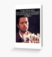 Castiel Birthday Card Greeting Card