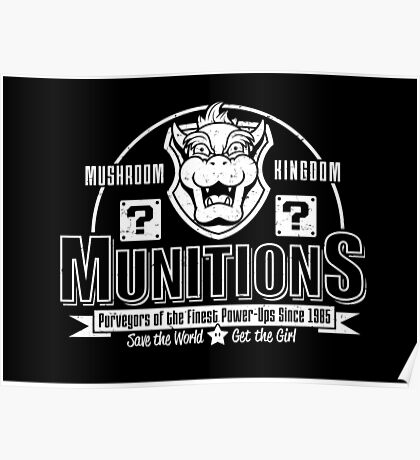 Mushroom Kingdom Munitions Poster