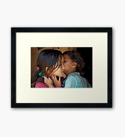 Playful Secrets Framed Print