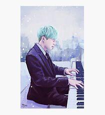Piano Man Yoongi Photographic Print