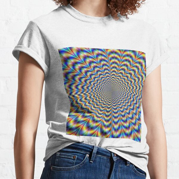 Optical illusion trip, optical art Classic T-Shirt