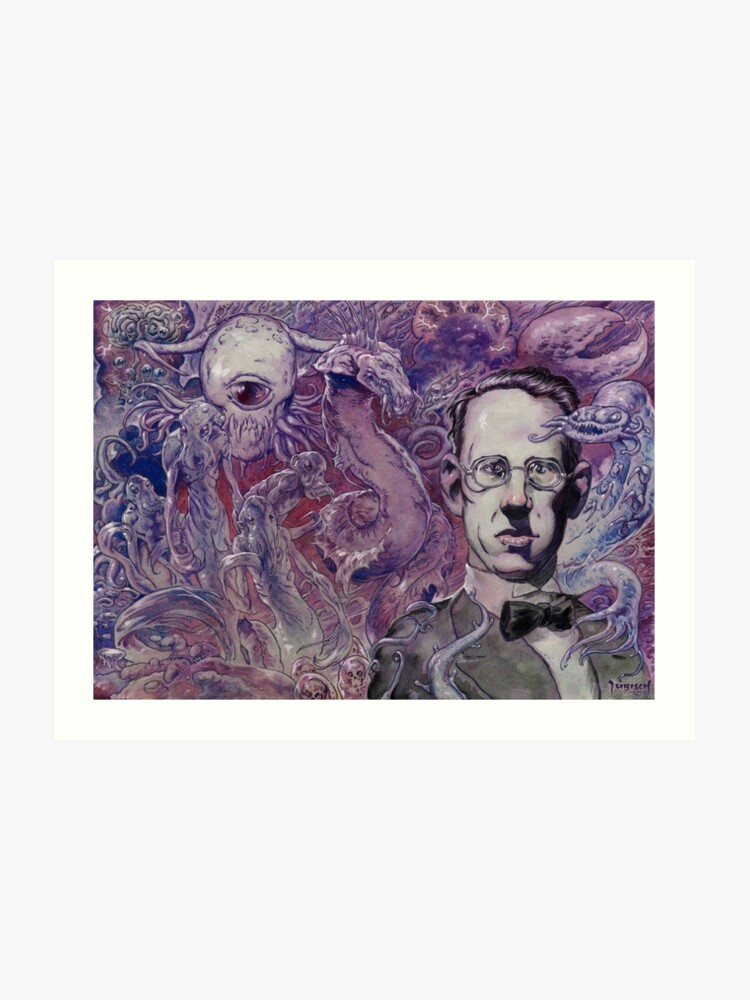 H P  Lovecraft From Beyond | Art Print