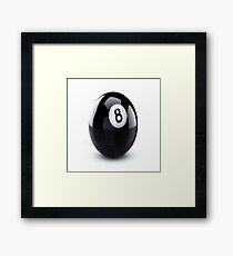 eight ball Framed Print