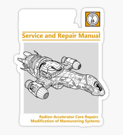 Shiny Service and Repair Manual Sticker