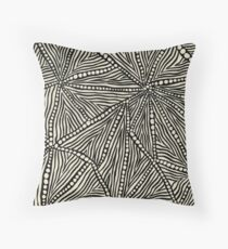 Black and Ivory Triangles Throw Pillow