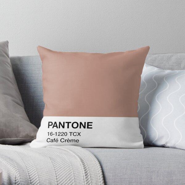 Pantone Café Crème Throw Pillow