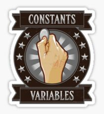 Constants & Variables Sticker