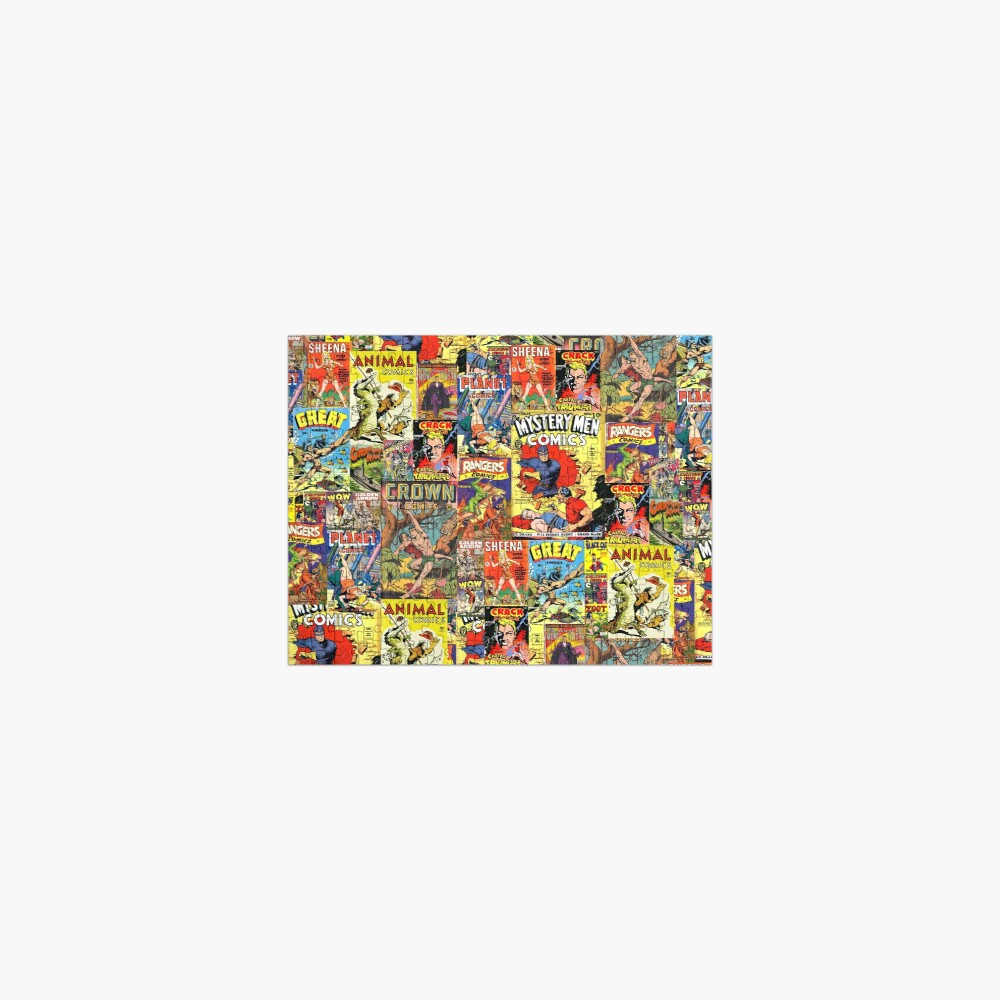 Vintage Comic Covers  Jigsaw Puzzle