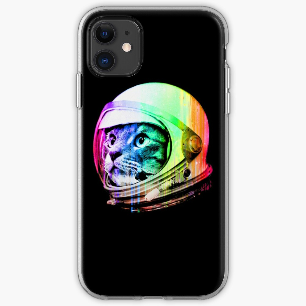 Astronaut Space Cat (digital rainbow version) iPhone Case & Cover