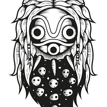Mononoke Spirit Mask by animepie