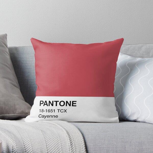 Pantone Cayenne Throw Pillow