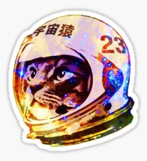 Astronaut Space Cat (deep galaxy version) Sticker
