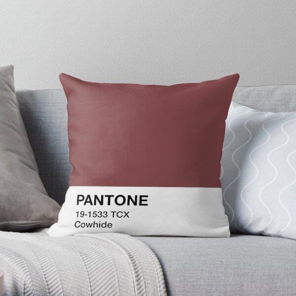 Pantone Cowhide Throw Pillow