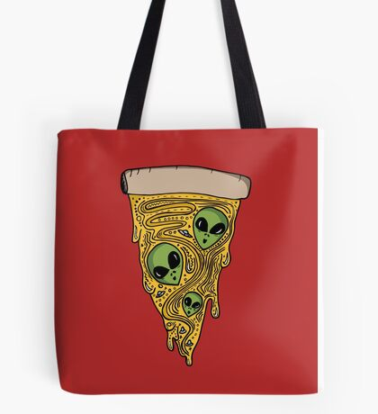 Alien Pizza Tote Bag