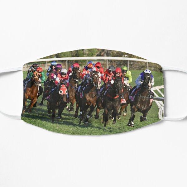 Horse racing action 11 Flat Mask