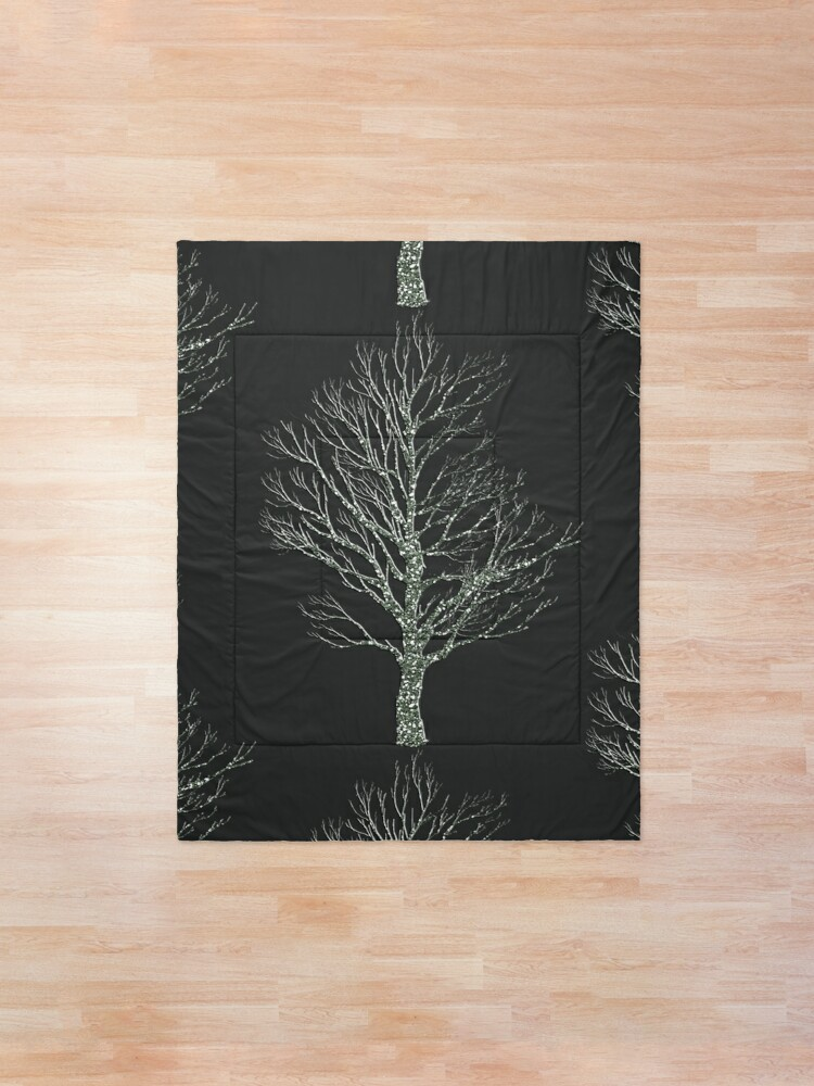 Alternate view of Winter Tree |  PANTONE Bleached Coral - Original 2020 Color of the Year Comforter