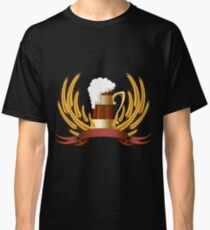 Beer mug cereal ears and banner for your text Classic T-Shirt