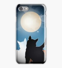 dreaming cats on a roof iPhone Case/Skin
