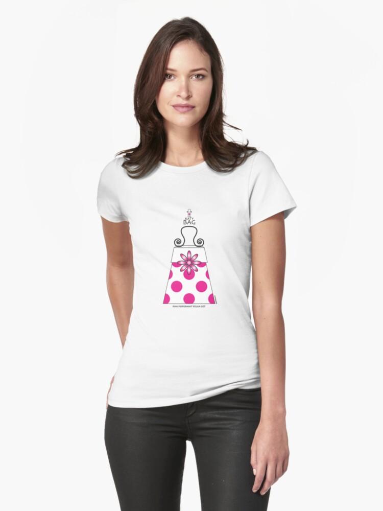 The Katy Bag / Pink Peppermint Polka Dot by Susan R. Wacker