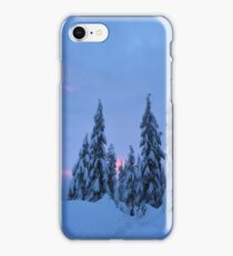 Snowshoeing the mountains  iPhone Case/Skin