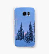 Snowshoeing the mountains  Samsung Galaxy Case/Skin