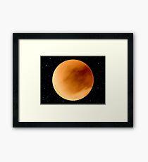 Dust Storm on Planet Dune Arrakis Framed Print