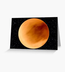 Dust Storm on Planet Dune Arrakis Greeting Card