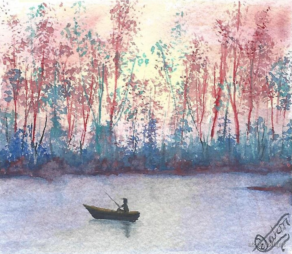 """""""Fishing in Autumn"""" by Curtis Caton by atouchoflight"""