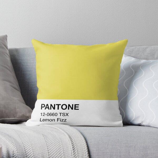 Pantone Lemon Fizz Throw Pillow