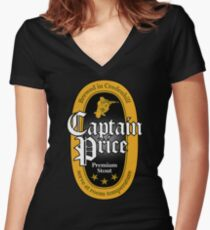 Captain Price Premium Stout Women's Fitted V-Neck T-Shirt
