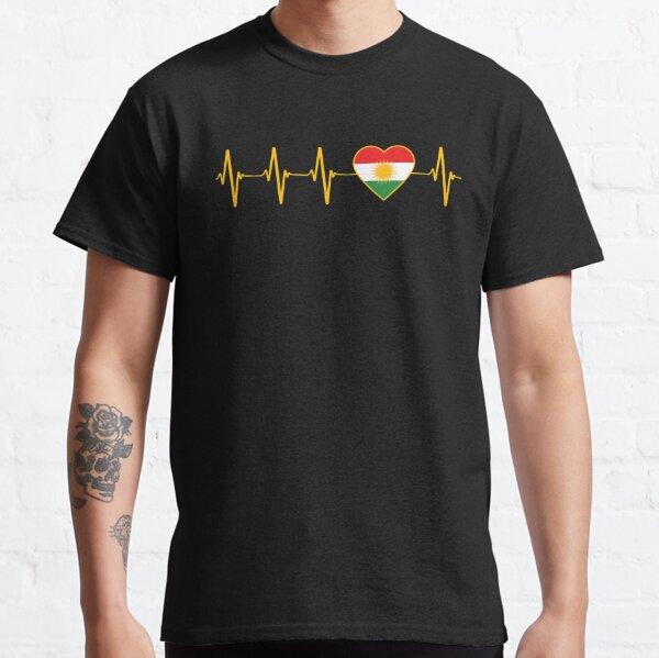 Kurdischer Herzschlag Ich liebe Kurdistan Heartbeat Flag Classic T-Shirt