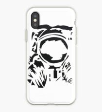 spaceman silhouette iPhone Case