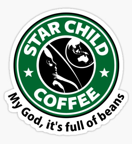 Star Child Coffee Sticker