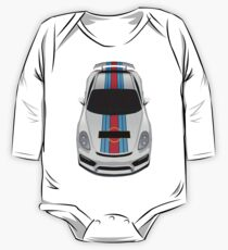 Blue and red stripes Baby Body Langarm
