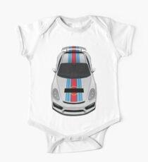 Blue and red stripes Baby Body Kurzarm
