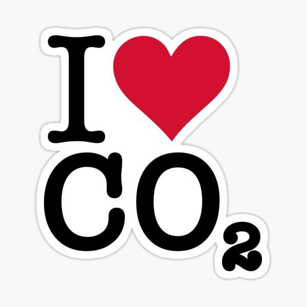 Ich liebe CO2 Sticker