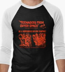 Teenagers from outer space ray-gun poster Men's Baseball ¾ T-Shirt