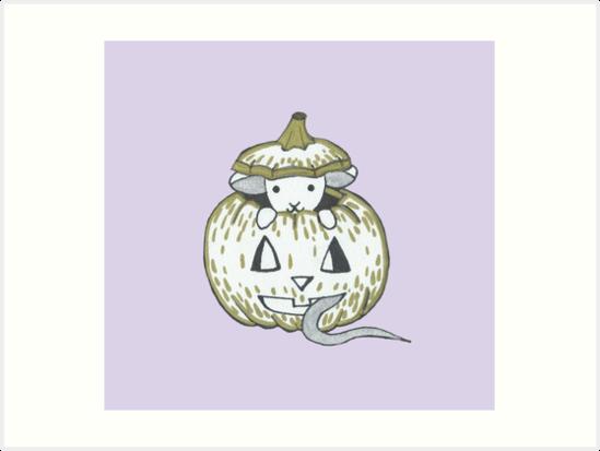 Peekaboo Halloween Mouse by harrisrose