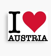 I love Austria Canvas Print