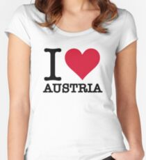 I love Austria Women's Fitted Scoop T-Shirt