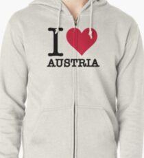 I love Austria Zipped Hoodie
