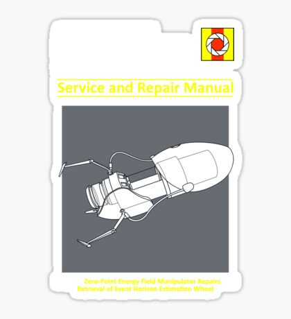 ASHPD Service and Repair Manual Sticker