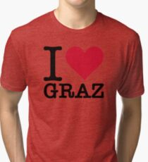 I Love Graz Tri-blend T-Shirt